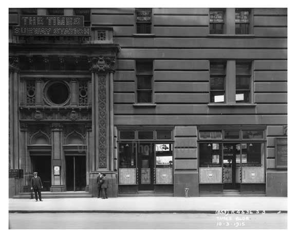 Times Building - Midtown Manhattan - 1915 Old Vintage Photos and Images