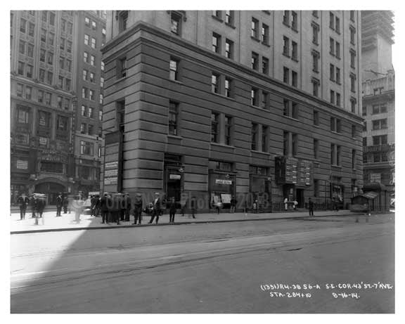 Times Building Southeast corner of Times Square &  43rd Street - Midtown - Manhattan  1914 Old Vintage Photos and Images