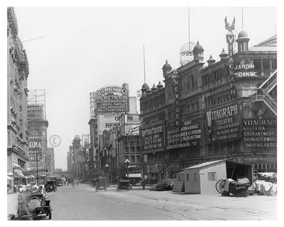 Times Square &  43rd Street - Midtown - Manhattan  1914 A Old Vintage Photos and Images