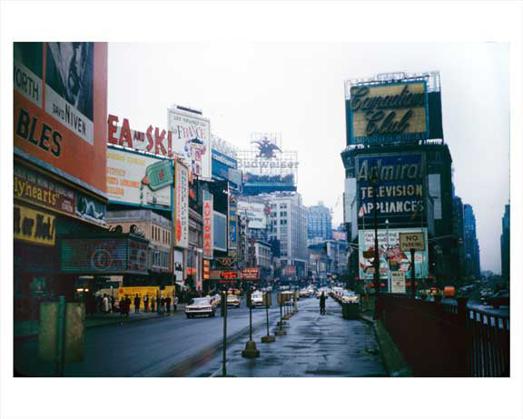 Times Square - looking north - 1959 Old Vintage Photos and Images