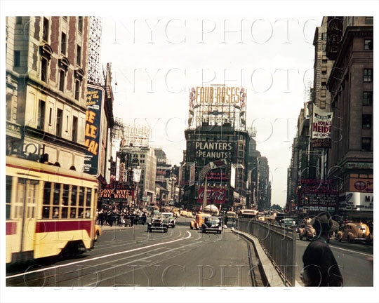 Times Square Manhattan, NYC 1939 Old Vintage Photos and Images