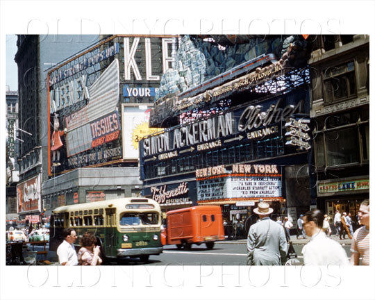 Times Square Simon Ackerman Clothes Manhattan, NYC 1951 Old Vintage Photos and Images