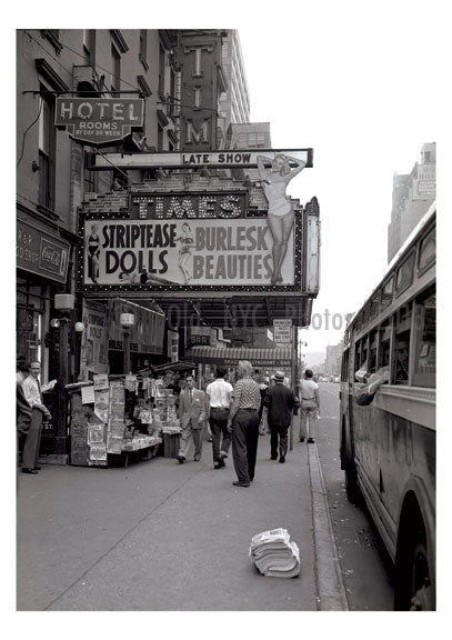 Times Theater Burlesk - 1955 8th Avenue near West 42nd  Street Old Vintage Photos and Images