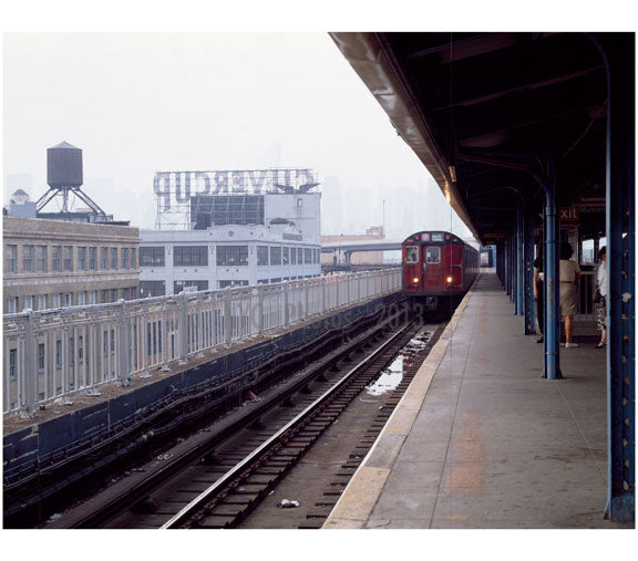 train arrival at unknown station in Brooklyn Old Vintage Photos and Images