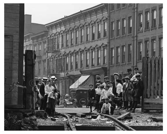 Train tracks Bushwick Ave - Williamsburg - Brooklyn , NY  1923 C Old Vintage Photos and Images
