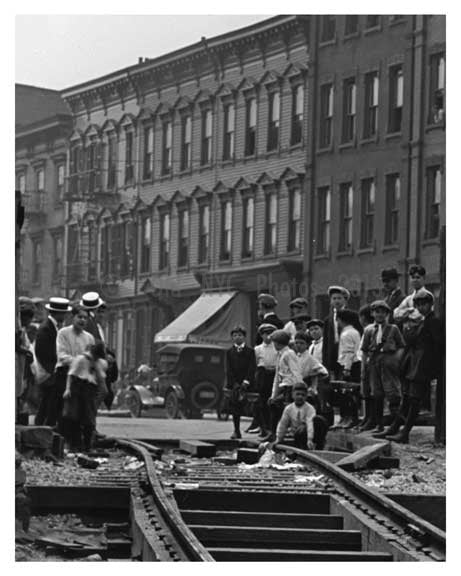 Train tracks Bushwick Ave - Williamsburg - Brooklyn , NY  1923 B Old Vintage Photos and Images