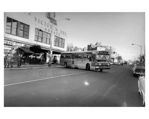 Triboro Coach  at Victor Moore Arcade - Broadway 1964 - East Elmhurst -  Queens NY Old Vintage Photos and Images