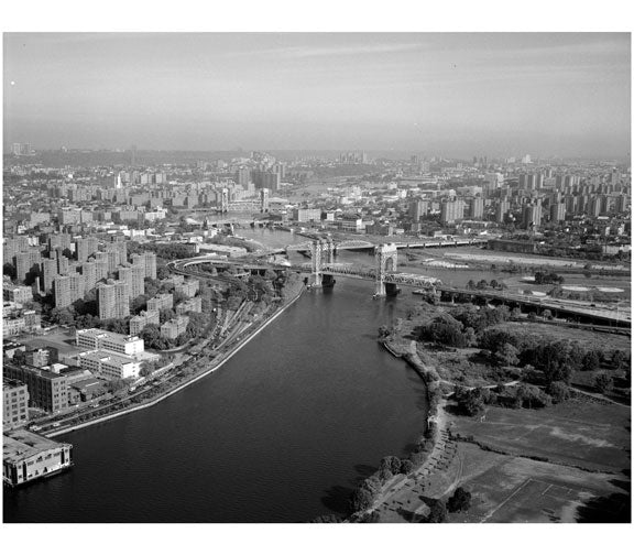 Triborough Bridge connecting Manhattan at 125th Street to Randalll's Island Old Vintage Photos and Images