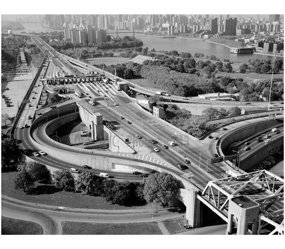 Triborough Bridge Exchange Plaza on Randall's Island Old Vintage Photos and Images