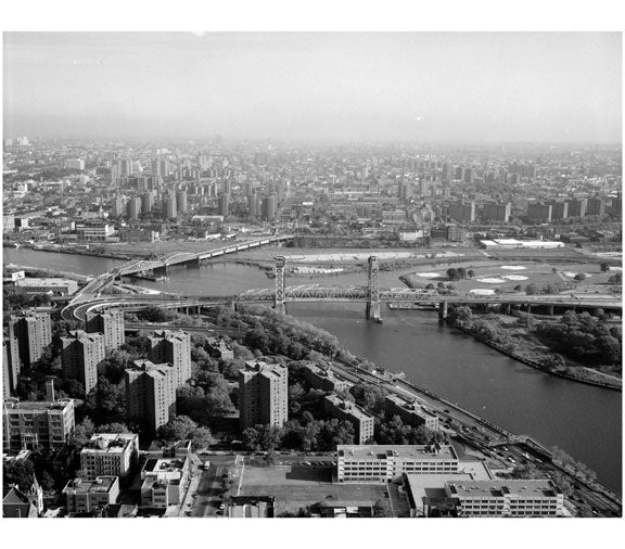Triborough Bridge - spanning Manhattan & Randall's Island Old Vintage Photos and Images