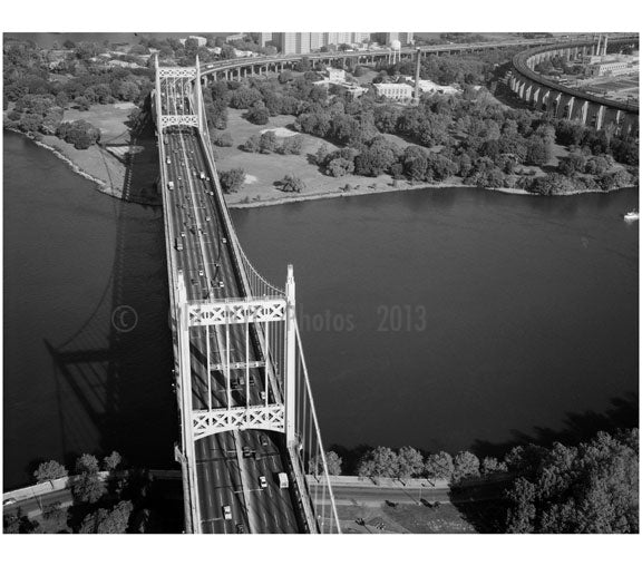 Triborough Suspension Bridge over Hells Gate Old Vintage Photos and Images