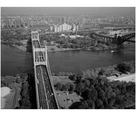 Triborough Suspension Bridge over Hells Gate A