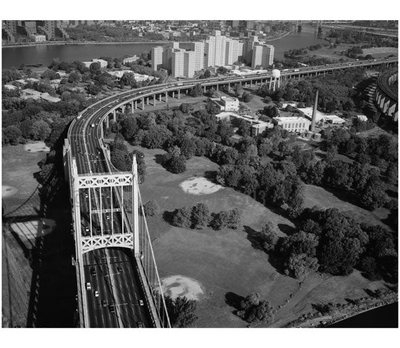 Triborough Suspension Bridge - Randall's Island tower Old Vintage Photos and Images