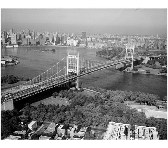 Triborough Suspension Bridge, span from Queens to Randall's Island Old Vintage Photos and Images