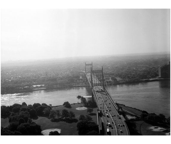 Triborough Suspension Bridge, span from Randall's Island to Astoria, Queens Old Vintage Photos and Images