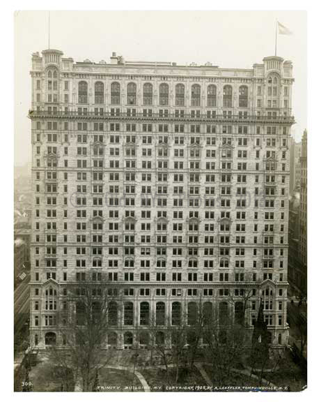 Trinity Buildings  - the original twin towers - Wallstreet Downtown Manahttan NYC Old Vintage Photos and Images