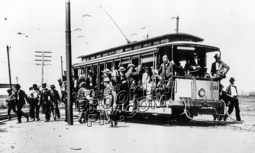 Trolley at Brighton Beach Race Track, 1904 Old Vintage Photos and Images