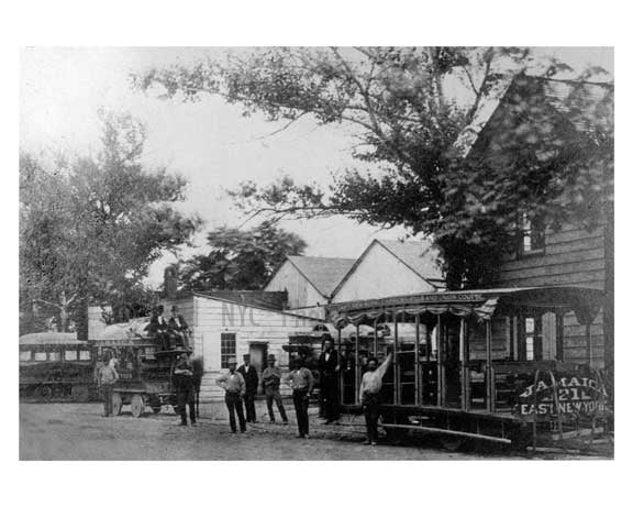 Trolley on Jamaica Avenue 1870 - Woodhaven  - Queens NY Old Vintage Photos and Images