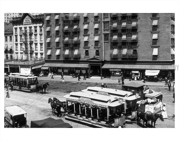 Trolleys on the east side of NYC Old Vintage Photos and Images