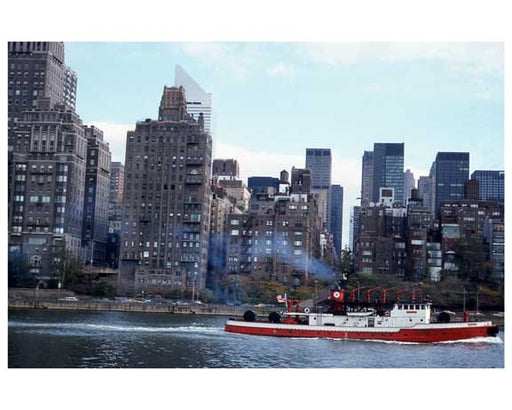 Tug boats going down the East River Old Vintage Photos and Images