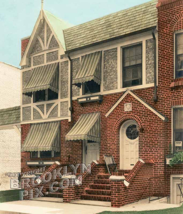 Typical Bay Ridge houses, 6659 and 6661 Colonial Road, 1930s