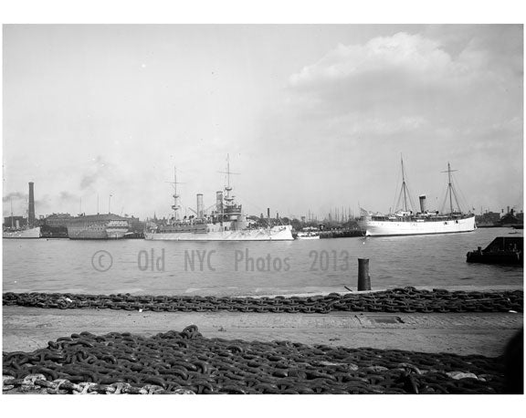 U.S.S. Kentucky & Prairie at Brooklyn Navy yard Old Vintage Photos and Images