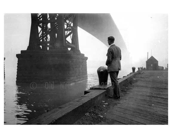 under Manhattan Bridge  Brooklyn, NY 1908 Old Vintage Photos and Images