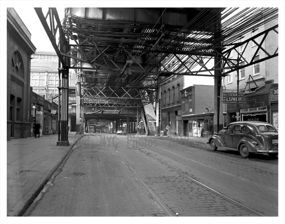 under the elevated train Old Vintage Photos and Images