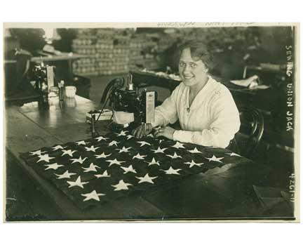 Union Jack Seamstress Old Vintage Photos and Images
