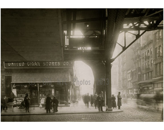 """United Cigar Stores"" Bowery - east side at Grand Street January 25 1916 Old Vintage Photos and Images"