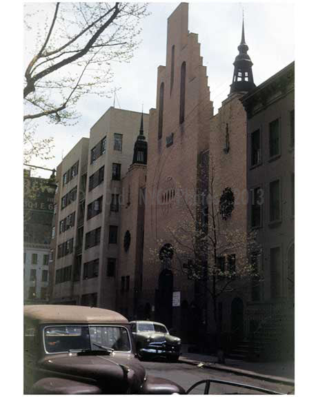 Unknown Church in Manhattan in the 1940's Old Vintage Photos and Images