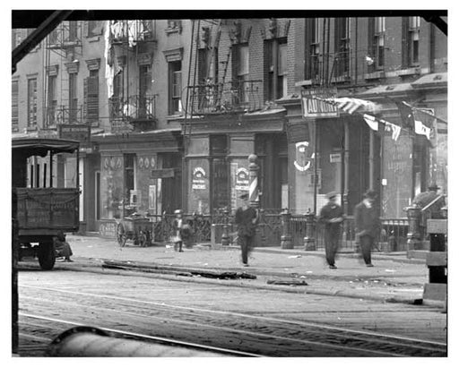 Up close view of East 14th Street East Village Manhattan, NY  1918 East Village Old Vintage Photos and Images