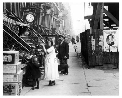Up close view of East 14th Street East Village Manhattan, NY  1918 Old Vintage Photos and Images