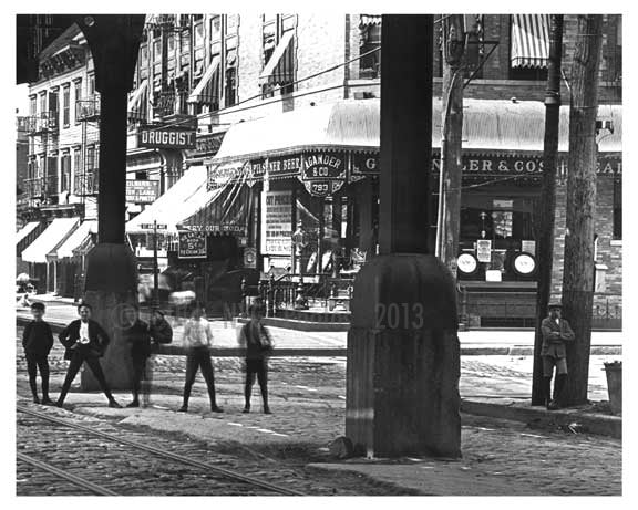 Upclose shot of kids in the street at Brook & Westchester Avenues - South Bronx, NY 1904 Old Vintage Photos and Images