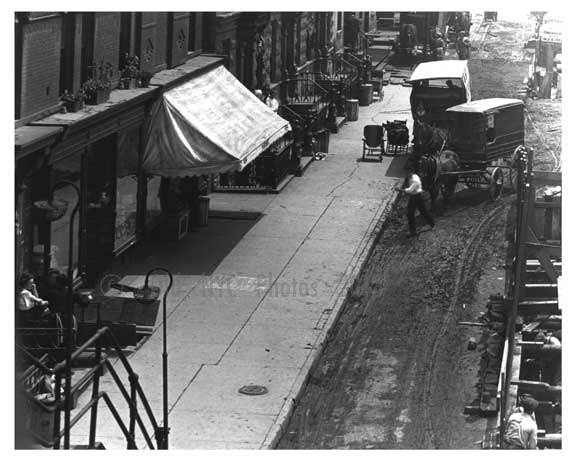 Upclose view of 10th Avenue & West 30th Street  - Midtown Manhattan - 1915 Old Vintage Photos and Images