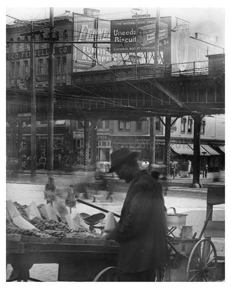 Upclose view of 149th Street Station Sugar Hill - Manhattan - New York, NY 1910 Old Vintage Photos and Images
