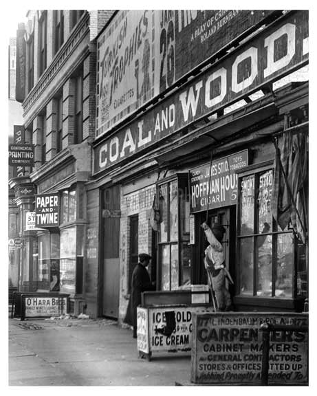 Upclose view of 7th Avenue between 20th & 21st Streets - Chelsea  NY 1915 A Old Vintage Photos and Images