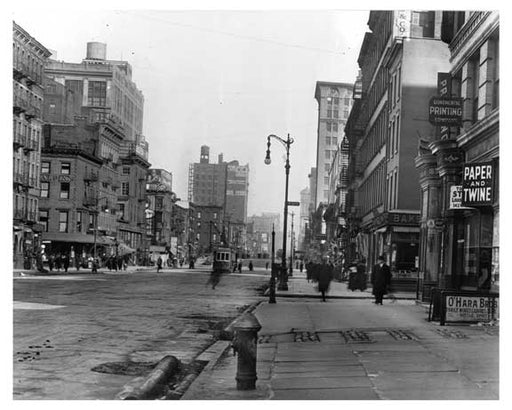 Upclose view of 7th Avenue between 20th & 21st Streets - Chelsea  NY 1915 Old Vintage Photos and Images