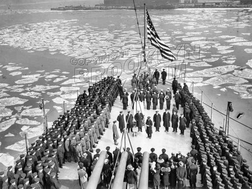 USS New Orleans Commission Ceremonies, 1934 Old Vintage Photos and Images