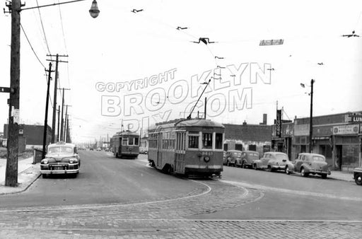 Utica Avenue looking north from Avenue N, 1951 Old Vintage Photos and Images