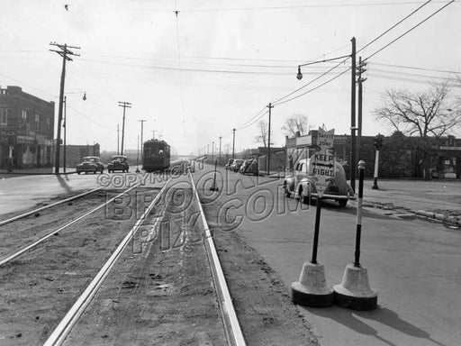 Utica Avenue looking south to Avenue D, 1945 Old Vintage Photos and Images