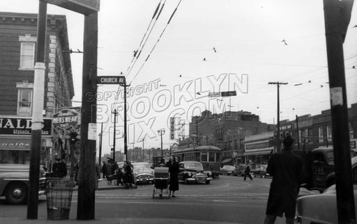 Utica Avenue north from Church Avenue, 1951 Old Vintage Photos and Images