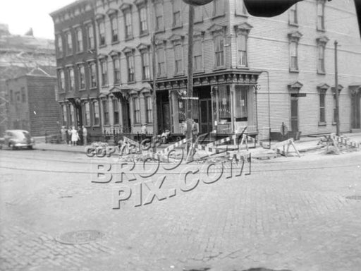Van Brunt Street and Beard Street, northwest corner, 1940s A Old Vintage Photos and Images