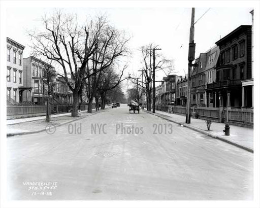 Vanderbilt Street looking east facing Prospect Avenue - Windor Terrace Brooklyn Old Vintage Photos and Images