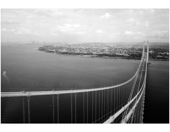 Verrazano Bridge - detail of main cables and suspension ropes Old Vintage Photos and Images