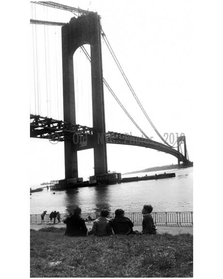 Verrazano Bridge under construction A