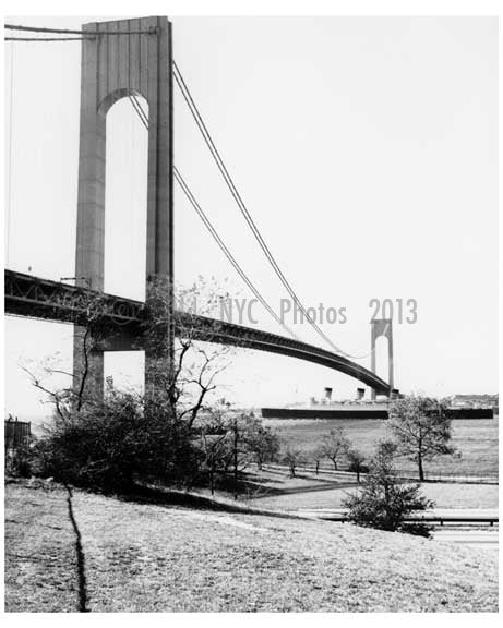Verrazano Narrows Bridge - connecting Brooklyn to Staten Island Old Vintage Photos and Images