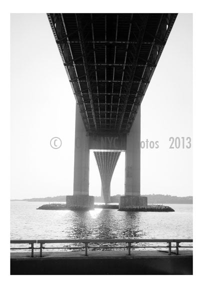 Verrazano Narrows Bridge - underside view from Brooklyn side looking south Old Vintage Photos and Images
