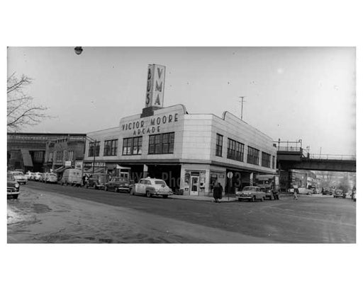 Victor Moore Arcade - Broadway 1964 - East Elmhurst -  Queens NY Old Vintage Photos and Images