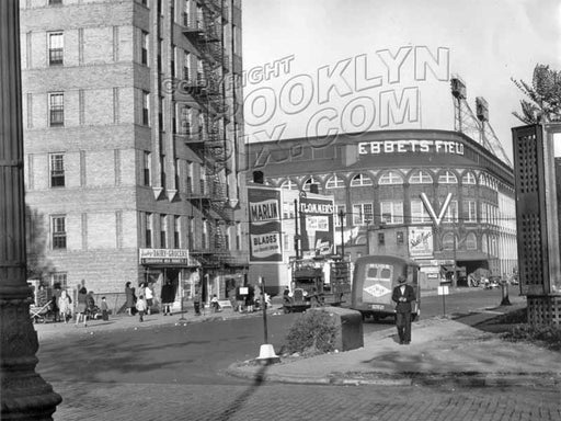 View from Washington Avenue east along Sullivan Place 1945 Old Vintage Photos and Images